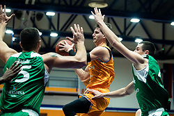 Davor Konjevic KK Helios Suns during 9. round of Slovenian national championship between teams Helios Suns and Zlatorog Lasko in Sport Hall Domzale on 30. November 2019, Domzale, Slovenija. Grega Valancic / Sportida