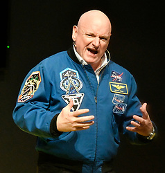 January 9, 2018 - Las Vegas, Nevada, U.S.: Former NASA astronaut SCOTT KELLY talks about his: ONE YEAR IN SPACE, at the Nikon booth, during the first day of the first day the 2018 CES show, Monday. (Credit Image: © Gene Blevins/ZUMA Wire)