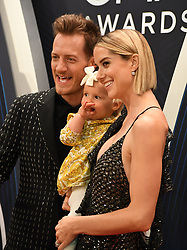 Celebrities arrive at the 52nd Annual CMA Awards at the Bridgestone Arena. 14 Nov 2018 Pictured: Tyler Hubbard, Olivia Rose Hubbard and Hayley Stommel. Photo credit: MBS/MEGA TheMegaAgency.com +1 888 505 6342