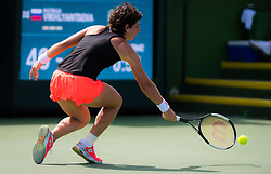 March 9, 2019 - Indian Wells, USA - Carla Suarez Navarro of Spain in action during her second-round match at the 2019 BNP Paribas Open WTA Premier Mandatory tennis tournament (Credit Image: © AFP7 via ZUMA Wire)
