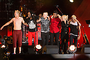 No Doubt performs at the 2014 Global Citizen Festival at Central Park in New York City on 27 September 2014.
