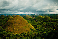 Philippines, Bohol. Chocolate Hills - one of the most famous Filipino tourist attractions.