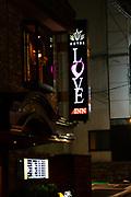 Love Inn Hotel, Kyoto, Japan. at Night