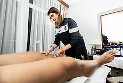 Physiotherapists Nastja Skrbis during training camp of NK Bravo before spring season of Prva liga Telekom Slovenije 2020/21, on January 20, 2021 in Terme Zrece, Slovenia.  Photo by Vid Ponikvar / Sportida