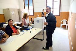 ELEZIONI AMMINISTRATIVE 2016 PORTOMAGGIORE - NICOLA MINARELLI AL VOTO