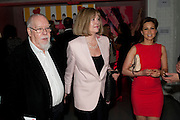 SIR PETER BLAKE; LADY BLAKE; RACHEL STEVENS, Tunnel of Love. Funfair party The Mending Broken Hearts appeal In aid of the British Heart Foundation. Victoria House, Bloomsbury. London. 17 May 2011. <br /> <br />  , -DO NOT ARCHIVE-© Copyright Photograph by Dafydd Jones. 248 Clapham Rd. London SW9 0PZ. Tel 0207 820 0771. www.dafjones.com.
