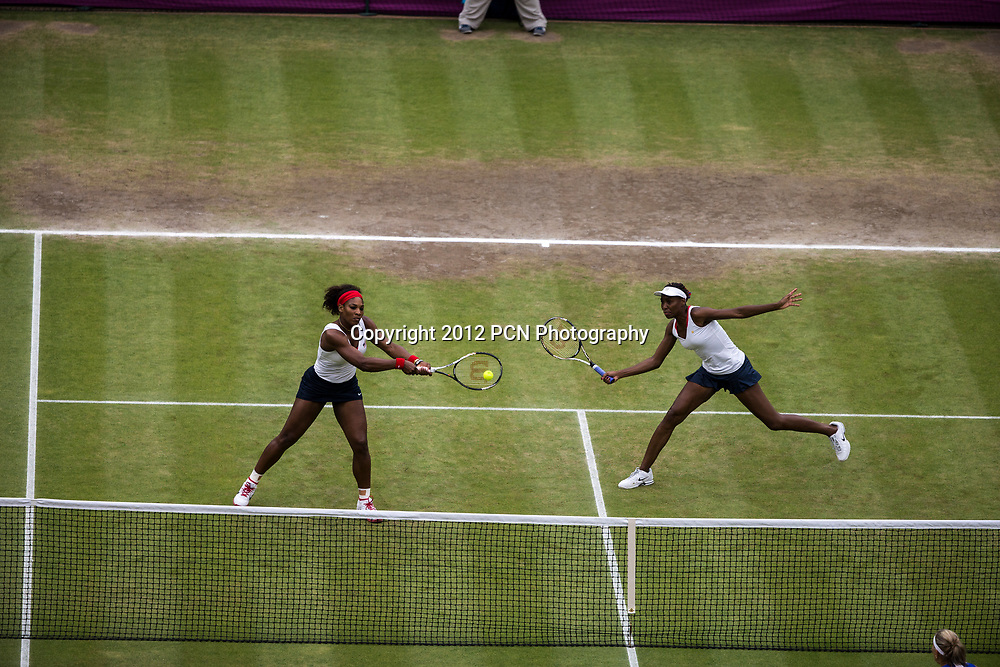 Serena and Venus Williams (USA) win the gold medal in Women's Tennis Double at the Olympic Summer Games, London 2012