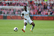 Nathan Dyer of Swansea city in action. Barclays Premier league match, Swansea city v Southampton at the Liberty stadium in Swansea, South Wales on Saturday 3rd May 2014.<br /> pic by Andrew Orchard, Andrew Orchard sports photography.