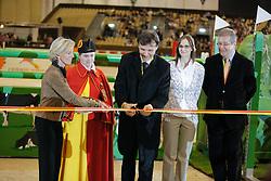 Openinhg ceremony<br /> Beer Charles (Conseille d'Etat), Mme Isabel Rochat Conseillère d'Etat), Mottu Sophie (SUI), Poudret Alban (SUI)<br /> Rolex FEI World Cup Final - Geneve 2010<br /> © Dirk Caremans