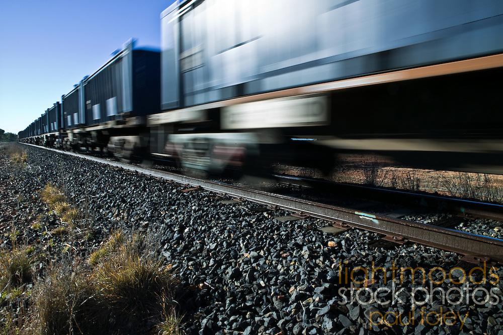 Freight Train. Outback NSW, Australia