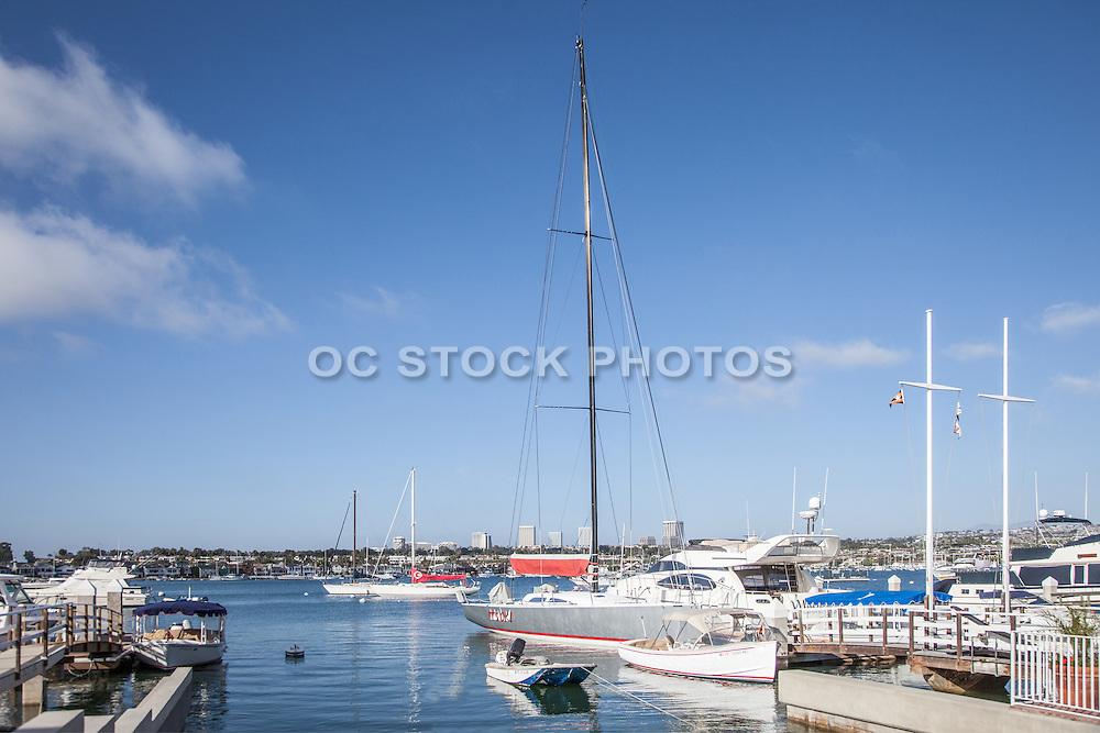 Boats Docked in Balboa Harbor Newport Beach California