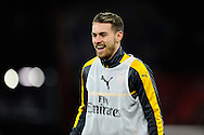 Aaron Ramsey (8) of Arsenal warming up before the Premier League match between Bournemouth and Arsenal at the Vitality Stadium, Bournemouth, England on 3 January 2017. Photo by Graham Hunt.