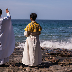 Leva (Ocean) Season Opening Ceremony<br /> <br /> Another Christian mass, Corpus Christi will be shared among the people - led by the hymns of a local chorus. <br /> <br /> The last part of the Leva Season opening, the Paledang (whaling boats) are blessed by the bishop and the sail of a traditional Paledang will hoised – it will put to sea symbolically for all others.
