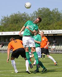 Jesper Kristoffersen (Avarta) under kampen i 2. Division Øst mellem Boldklubben Avarta og FC Helsingør den 19. august 2012 i Espelunden. (Foto: Claus Birch).