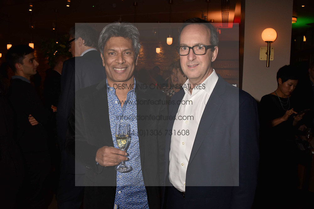 Left to right, Des Gunewardena and David Loewi of D&D London at the launch of Fiume at Battersea Power Station, Battersea, London England. 16 November 2017.<br /> Photo by Dominic O'Neill/SilverHub 0203 174 1069 sales@silverhubmedia.com