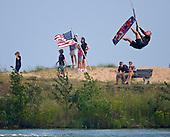 Kiteboarding Lake Michigan Door County Wisconsin. Stock Photography