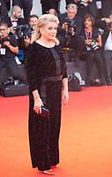 Venice, Italy, 31st August 2019, Catherine Deneuve at the gala screening of the film Joker at the 76th Venice Film Festival, Sala Grande. Credit: Doreen Kennedy