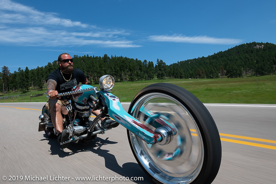 Cycle Source Ride up Vanocker Canyon to Nemo during the Sturgis Black Hills Motorcycle Rally. SD, USA. Wednesday, August 7, 2019. Photography ©2019 Michael Lichter.