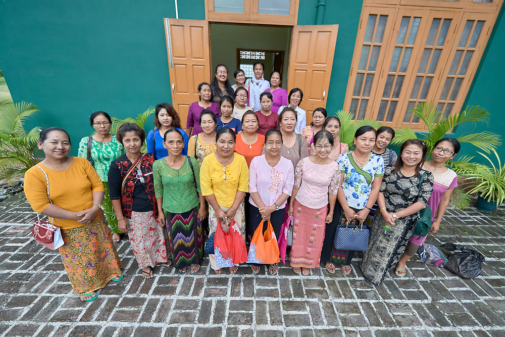 Participants in an ecumenical workshop on women's empowerment in Kalay, Myanmar. The workshop was sponsored by the Women's Department of the Myanmar Council of Churches and led by Emma Cantor, a regional missionary for United Methodist Women.