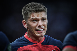 Owen Farrell of England speaks to his team during a break in play<br /> <br /> Photographer Craig Thomas/Replay Images<br /> <br /> Quilter International - England v Italy - Friday 6th September 2019 - St James' Park - Newcastle<br /> <br /> World Copyright © Replay Images . All rights reserved. info@replayimages.co.uk - http://replayimages.co.uk