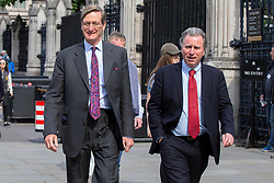 © Licensed to London News Pictures. 10/09/2019. London, UK. MP for Beaconsfield Dominic Grieve and MP for West Dorset Oliver Letwin walk outside The Houses of Parliament .  Photo credit: George Cracknell Wright/LNP