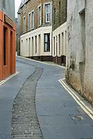 Narrow streets in Stromness Orkney Islands Scotland