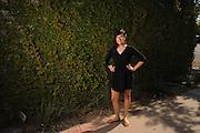 Casandra Hernandez poses for a portrait in Downtown Phoenix, AZ.
