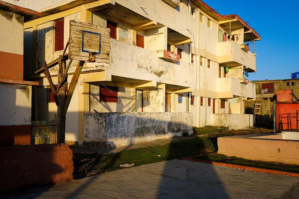 BARACOA, CUBA - CIRCA JANUARY 2020: Apartment building in Baracoa.