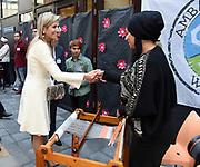 Koningin Maxima tijdens de viering van het tienjarig bestaan van de stichting Participatie, Integratie en Emancipatie Zoetermeer (Piezo)<br /> <br /> Queen Maxima during the celebration of the tenth anniversary of the foundation Participation, Integration and Equality Zoetermeer (Piezo)