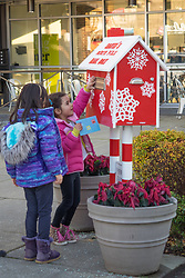 United States, Washington, Kirkland, Mailbox for letters to Santa Claus