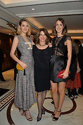 Left to right, FRANCESCA HERBERT, CHICA HERBERT and CHLOE HERBERT at the 26th Cartier Racing Awards held at The Dorchester, Park Lane, London on 8th November 2016.