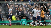 Football - 2019 / 2020 Premier League - Tottenham Hotspur vs. Wolverhampton Wanderers<br /> <br /> Dejected Tottenham players after they concede a goal  at The Tottenham Hotspur Stadium.<br /> <br /> COLORSPORT/DANIEL BEARHAM