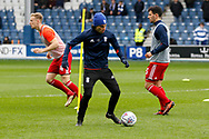 Birmingham City midfielder Jota (27) warms up before kick off during the EFL Sky Bet Championship match between Queens Park Rangers and Birmingham City at the Loftus Road Stadium, London, England on 28 April 2018. Picture by Andy Walter.