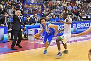 DESCRIZIONE : Milano Final Eight Coppa Italia 2014 Finale Montepaschi Siena - Dinamo Banco di Sardegna Sassari<br /> GIOCATORE : Giacomo DeVecchi<br /> CATEGORIA : Palleggio Penetrazione<br /> SQUADRA : Dinamo Banco di Sardegna Sassari<br /> EVENTO : Final Eight Coppa Italia 2014 Milano<br /> GARA : Montepaschi Siena - Dinamo Banco di Sardegna Sassari<br /> DATA : 09/02/2014<br /> SPORT : Pallacanestro <br /> AUTORE : Agenzia Ciamillo-Castoria / Luigi Canu<br /> Galleria : Final Eight Coppa Italia 2014 Milano<br /> Fotonotizia : Milano Final Eight Coppa Italia 2014 Finale Montepaschi Siena - Dinamo Banco di Sardegna Sassari<br /> Predefinita :