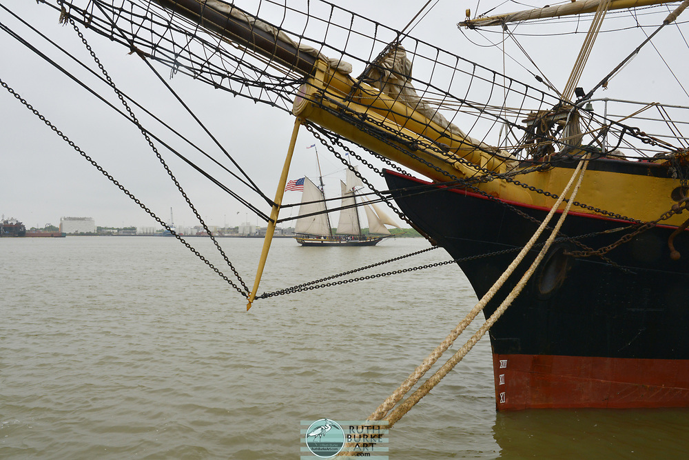 19 and 20th century Sailing Ships on display at the 2018 Tall Ships Festival in Galveston, Texas Vintage Tall Sailing Ships from the 18th and 19 centuries