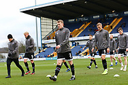 Grimsby Town defender Luke Hendrie (2) warming up before  the EFL Sky Bet League 2 match between Mansfield Town and Grimsby Town FC at the One Call Stadium, Mansfield, England on 4 January 2020.