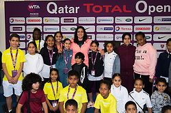 February 11, 2019 - Doha, Spain - Ons Jabeur of Tunisia during a Kids Press Conference at the 2019 Qatar Total Open WTA Premier tennis tournament (Credit Image: © AFP7 via ZUMA Wire)