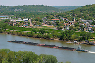 A Coal Barge On The Ohio River At Bellevue And Dayton Kentucky Across From Cincinnati Ohio USA