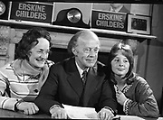 Erskine Childers Press Conference.<br /> 1973.<br /> 31.05.1973.<br /> 05.31.1973.<br /> 31st May 1973.<br /> At a press conference at Fianna Fail headquarters, Mr Erskine Childers, was confirmed as the winner of the presidential campaign. He won by a margin of 52% to 48% beating the favourite Tom O'Higgins,Fine Gael.<br /> A happy family portrait shows Mrs Rita Childers, President Elect,Mr Erskine Childers and daughter Nessa posing for pictures at the press conference to celebrate his winning the presidential race.