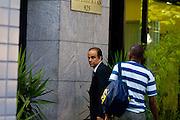 Belo Horizonte_MG, Brasil...Marcos Valerio chegando ao trabalho, na regiao da Savassi...Marcos Valerio arriving to work in the Savassi region...Foto: LEO DRUMOND /  NITRO