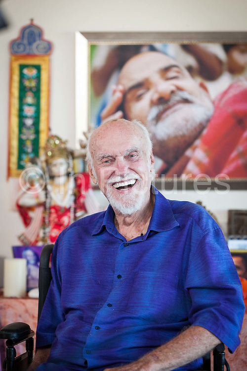 The teacher and writer Ram Dass, pictured at his home in Maui on 3rd February 2013. Ram Dass inspired many people around the world with his writings and speeches on yoga and spirituality, died at home in Maui on 22nd December 2019.
