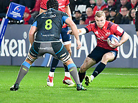 Rugby Union - 2019 / 2020 Champions Cup: Ospreys vs. Munster<br /> <br /> Keith Earls of Munster cuts inside, at The Liberty Stadium.<br /> <br /> COLORSPORT/WINSTON BYNORTH
