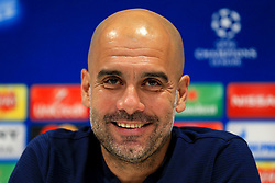 Manchester City manager Pep Guardiola during the press conference - Mandatory by-line: Matt McNulty/JMP - 03/04/2018 - FOOTBALL - Manchester City - Press conference ahead of Champions League Quarter Final against Liverpool