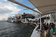 The island of Mykonos, Greece.  Photograph by Dennis Brack