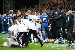 October 11, 2018 - Guingamp, France - 23 ALPHONSE AREOLA (FRA) - ALTERCATION - COLERE (Credit Image: © Panoramic via ZUMA Press)
