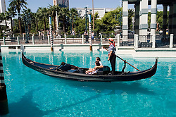 Nevada, NV, Las Vegas, city, Gondola in front of Venetian Hotel, no model release, gondolier, romantic, sunny, Photo nv285-17101. .Copyright: Lee Foster, www.fostertravel.com, 510-549-2202,lee@fostertravel.com