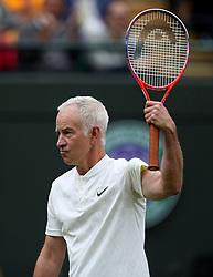 John McEnroe on No.1 court at The All England Lawn Tennis Club, London.