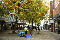 © Licensed to London News Pictures. 22/10/2020. City, UK. A general view of Swansea city centre, south Wales, on the day before non-essential shops close due to the 'Firebreak Lockdown' which has been implemented by the Welsh Government. Photo credit: Robert Melen/LNP