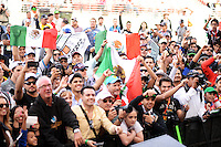 Sergio Perez (MEX) Sahara Force India F1 fans.<br /> United States Grand Prix, Sunday 2nd November 2014. Circuit of the Americas, Austin, Texas, USA.