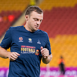 BRISBANE, AUSTRALIA - APRIL 2: Avram Papadopoulos of the Roar warms up before the round 25 Hyundai A-League match between the Brisbane Roar and Central Coast Mariners at Suncorp Stadium on April 2, 2017 in Brisbane, Australia. (Photo by Patrick Kearney/Brisbane Roar)